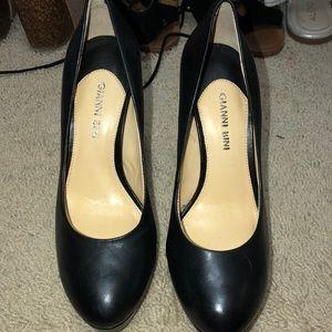 Gianni Bini black leather pumps size 7